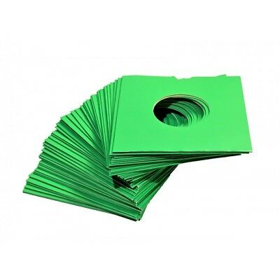 """25 X 7"""" Green Card Record Masterbags Sleeves / Covers *new*"""