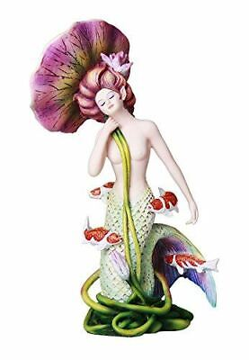 Sheila Wolk Mermaid Pulse of the Pond Mermaid Surrounded by Koi Fish Figurine