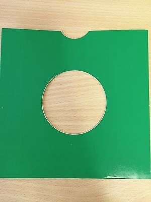 """50 X 7"""" Green Card Record Masterbags Sleeves / Covers *New*"""