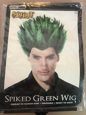 Spiked Green Wig Washable