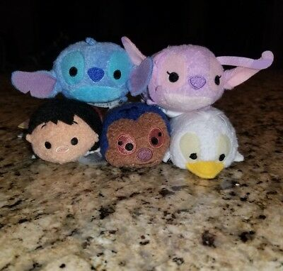 Authentic Disney Store First Release Lilo and Stitch Set of 5 Tsum Tsum NWT