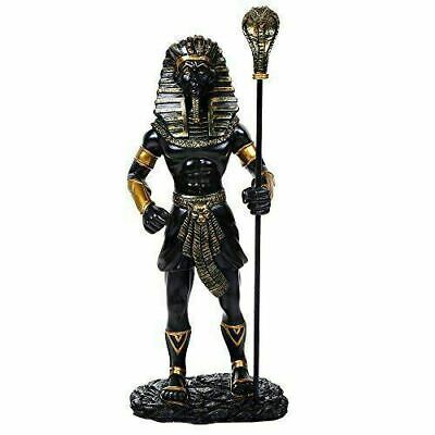 "Ancient Egyptian Collectible King Tut With the King Cobra Sceptre Figurine 12""H"