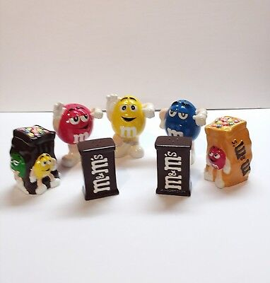M&M  Hershey Characters Salt & Pepper Shakers  LOT OF 7