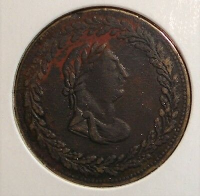 1812 Thomas Halliday 1/2 Penny Tiffen Token from Lower Canada