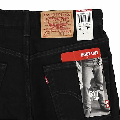 346a54bd VINTAGE NEW LEVIS 517 Boot Cut Denim Jeans Made in USA Size 30 ...