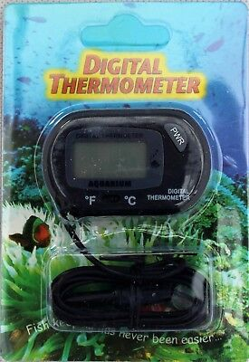 Lcd Digital Fish Aquarium Water Tank Window Thermometer New C& F