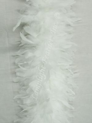 White Feather Boa heavy weight Chandelle  .