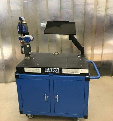 Faro Arm Gage 2014 with Granite Cart (Barely Used) + Aberlink 3D Software