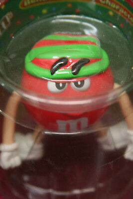 RED ~ M&M M&M's Collectible Bendable Figurine Character