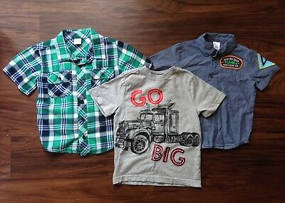 Lot of 3 Boys 4T Short Sleeve Shirts Gymboree Old  Navy