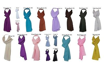 New Classic Silky Feel See Through Chiffon Scarf Wedding Shawl Bridesmaid Scarf