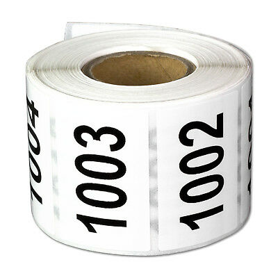 Consecutive Numbers Labels Inventory Control Self Adhesive 1000 to 1500 Stickers