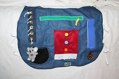 Posey Adult Cognetive Therapy Apron Excellent Used Condition Zip Velcro Button