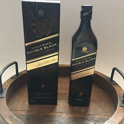 Johnnie Walker Double Black Scotch Whisky Empty Bottle and Box 750ml No Alcohol