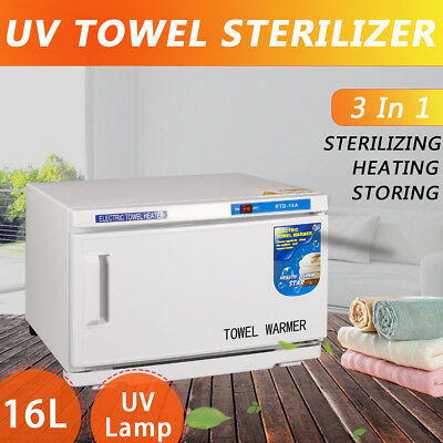 16L UV Towel Warmer Sterilizer Cabinet Facial Spa Towel Disinfection Hotel Salon