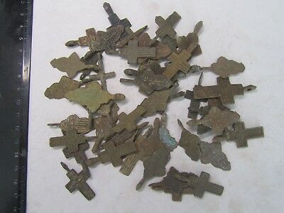 Metal detector finds.Mix lot  ancient crosses (The age of 17-19) 50 pieces. N3