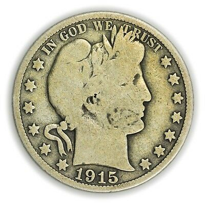 1915-D Barber Half Dollar, Large, Early Type, Silver Coin [3732.31]