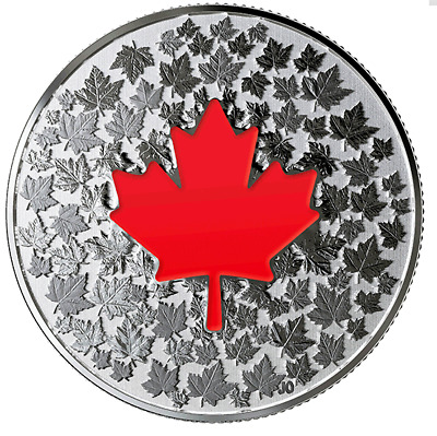 CANADA Hearts Aglow - Pure Silver Glow-in-the-Dark Coin 2018 - $5 -