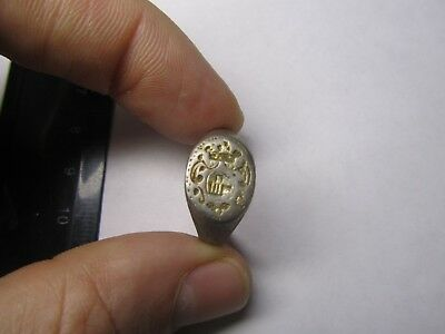 Silver ring (The age of 17-19)  Metal detector finds  100% original