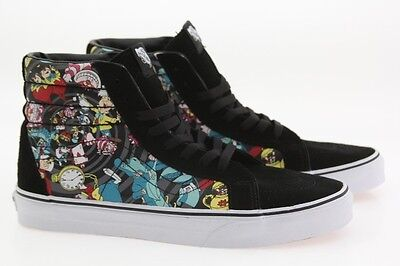 Vans x Disney Mens Sk8-Hi Reissue - Alice In Wonderland Rabbit Hole black  VN03CA 7a6ad8c305635