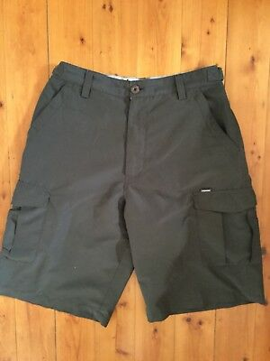 Huski Explorer Mens Size S ( Waist 82cm) Shorts Brown Hike Trek