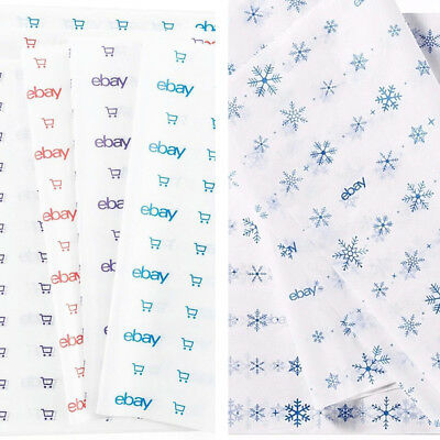 """eBay Branded Holiday & Blue, Red & Purple Tissue Paper 20"""" x 30"""" - 25 Sheet Lot"""