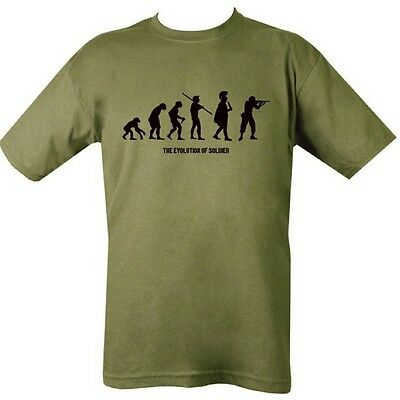Evolution Of Soldier T-Shirt British Army Cadet Hunting Paintballing Airsoft