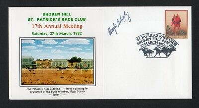 Broken Hill St Patrick's Race Club Brushmen of the Bush Artist Signed Cover 1982
