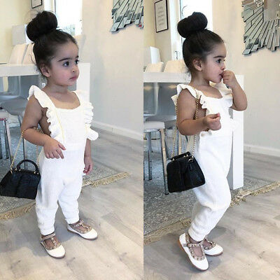 UK Baby Girls Toddler Summer Clothes Backless Romper Jumpsuit One Piece Playsuit