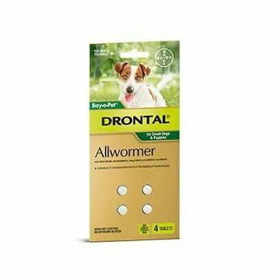 Drontal Allwormer Tablets for Small Dogs 3 kg - 4 Pack