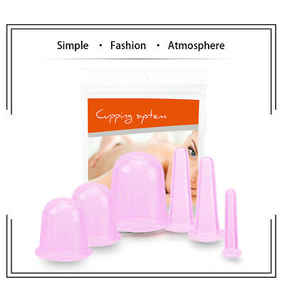 100% Medical Silicone Anti Cellulite Massage Cup Vacuum Therapy Suction Cupping