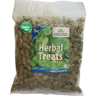 Global Herbs Herbal Mint 3kg Unisex Stable And Yard Horse Treats - Brown