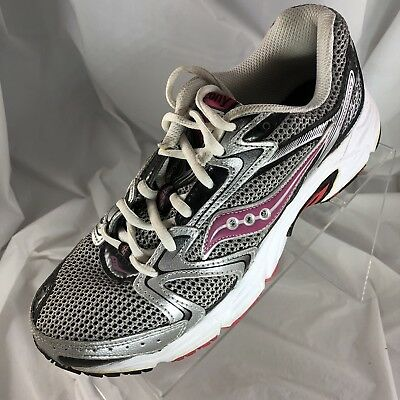 dd10308b0f3b Saucony Women's Grid Oasis 2 Silver/Pink/Black Sneaker Running Shoes Size  8.5/