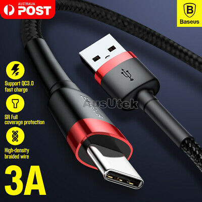 90° Degree PLAY USB Type-C Data Charger Cable For Samsung Galaxy S10 S9 PLUS P30