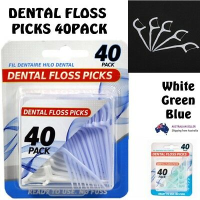 Dentle Floss Picks 40 pack brush teeth clean Care Durable Disposable Picks stick