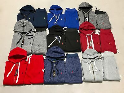 save up to 80% outlet online casual shoes NEW POLO SWEAT Suit Ralph Lauren for Men Full Zip Jacket + Sweat Pants 7  Colors