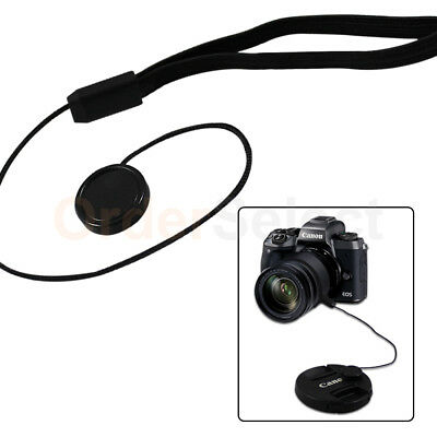 5X Lens Cover Cap Holder Keeper String Strap Rope For Canon Nikon Sony Camera