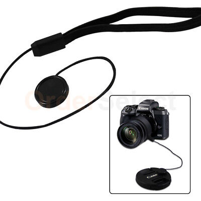 Lens Cap Strap Holder String Keeper Front Cover for Nikon Canon Sony Pentax