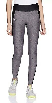 f74a92c6ddb4ca NEW Under Armour Fly-By Women's XLarge Running Leggings-Black /Heather-1297935