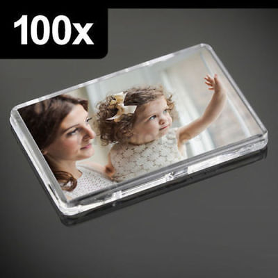 100x Premium Quality Clear Acrylic Blank Fridge Magnets 70 x 45 mm | Large Photo