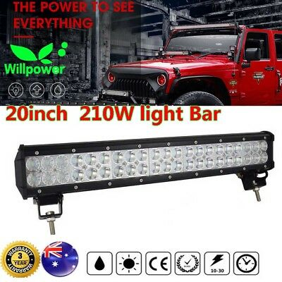 20inch 210W LED Light Bar Spot Flood Combo Offroad Work Driving 4WD Car SUV 126