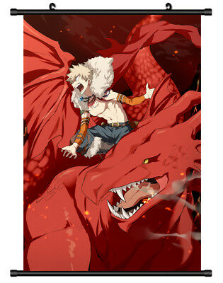 B5388 Boku no Hero Academia Bakugou anime manga Wall scroll Stoffposter 25x35cm