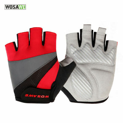 Cycling Half Finger Gloves Breathable Anti-shock Bike Mitts Sports Palm Padded