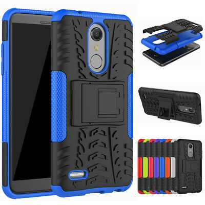 Hybrid Rubber PC Stand Case Cover Skin Protector Shockproof For LG K8 K10 2018