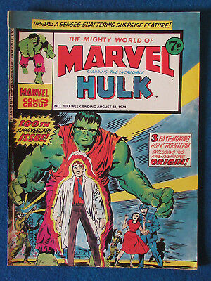 Marvel Comic - The Mighty World of Marvel - Incredible Hulk - Issue 100 - 1974