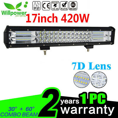 7D 18inch 420W LED Work Light Bar Offroad Truck 4WD Boat SUV UTE Driving Lamp 17