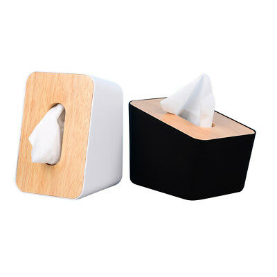 Wooden Cover Tissue Box Paper Napkin Storage Holder Case Organizer Container AU