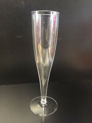 100 x Clear Plastic Champagne Flute Thin Wall Reusable