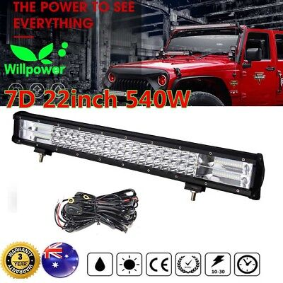 23inch Philips 540W LED Light Bar Spot Flood Offroad Driving Work 4x4 Truck 20""