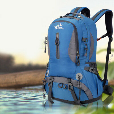45L Camping Hiking Backpack Outdoor Travel Sports Nylon Rucksack Waterproof Day